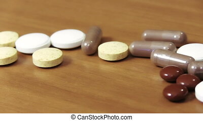 Pills On A Table