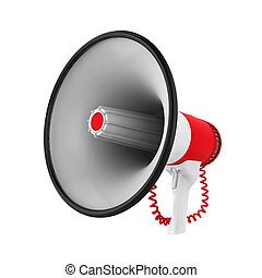 alto-falante, ou, megafone, isolado,