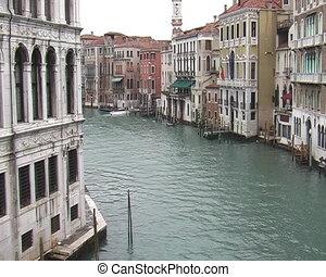 Grand Canal in Venice  - View from bridge Rivalto