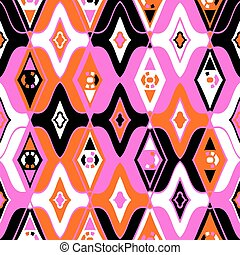 Vector seamless ethnic pattern with Uzbek, Turkish,...