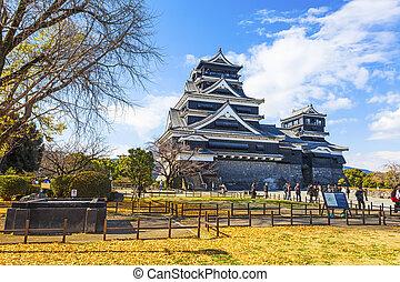 Kumamoto Castle in Japan - KUMAMOTO, JAPAN - Dec 6, 2014:...