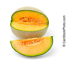 cantaloupe melon slices