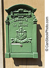 Antique Letter Box - Private antique letter box for incoming...