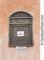 Letter Box - Private letter box for incoming mail with a No...