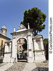 Ravenna Basilica of St Vitale - Gate to the Basilica of San...