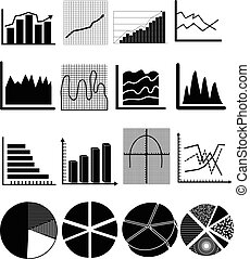 graph chart icons set