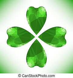 four leaf - Four- leaf clover - Irish shamrock St Patricks...