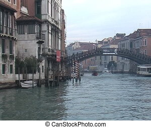 Grand Canal in Venice - View from vaporetto boat