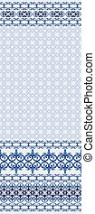 pattern with wide border