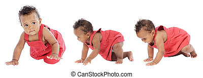 Learning to walk - Photographic sequence Of a baby learning...