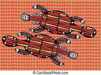 Aboriginal arts. - Aboriginal arts, platypus.