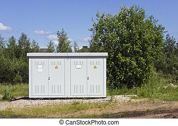 Solar power substation - Solar power transformer substation...