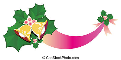 christmas bells - a nice picture of two christmas bells