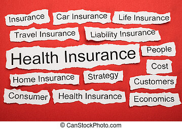 Health Insurance Text On Piece Of Torn Paper