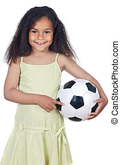 girl whit ball - adorable girl whit ball a over white...