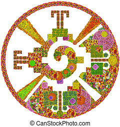 Heart of the Galaxy - Mayan symbol for God made from summer...