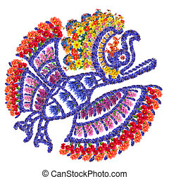 Mayan Eagle bird - Eagle bird - Mayan symbol for anymal made...