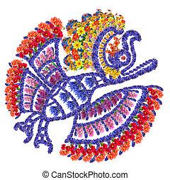 Mayan Eagle bird - Eagle bird - Mayan symbol for anymal made...