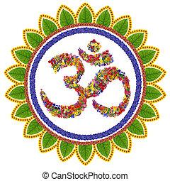 Isolated om sanskrit symbol - Isolated om sanskrit symbol in...