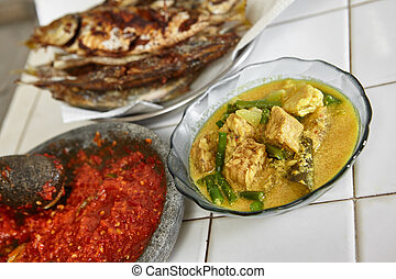 Indonesian local meal