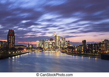 Frankfurt city - Frankfurt am Main city skyline night view
