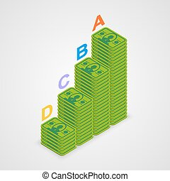 Isometric pyramid money