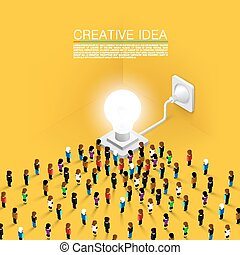 Crowd people committed idea - Crowd of people committed to...