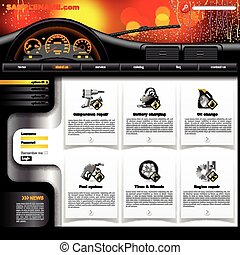 Automobile Service Website Template