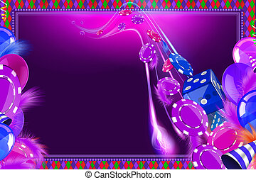 Casino Celebration background with carnival balloons and...