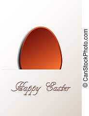 Happy Easter card - Happy easter card with a modern look