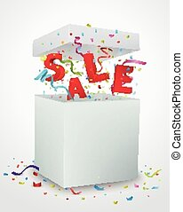 Sale message box with colorful