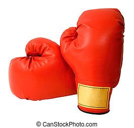 boxe, luvas, isolado