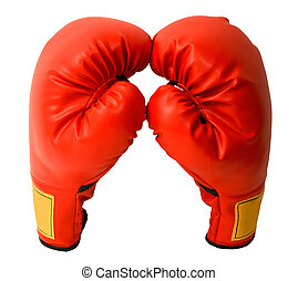 Pair of Boxing Gloves - This is a closeup of a pair of...
