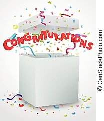 Congratulations message box - Vector Illustration of...
