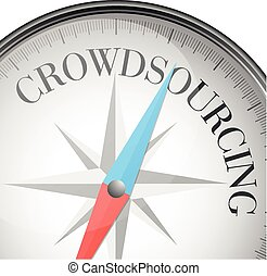 compass crowdsourcing - detailed illustration of a compass...