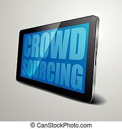 tablet crowdsourcing - detailed illustration of a tablet...