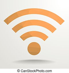 Polygon Wifi - detailed illustration of a polygonal wifi...