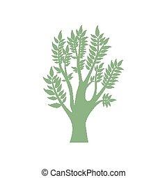 Vector green tree