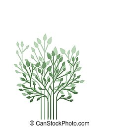 shrubs - Simple shrubs isolated on a white background