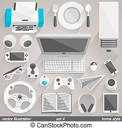Vector home style. set 4