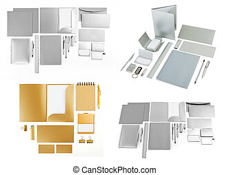 Set of corporate identity templates - Set of corporate...