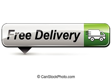 free delivery icon - illustration of free delivery...