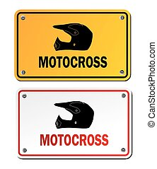 motocross signs - suitable for illustrations