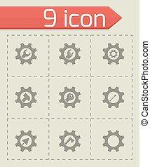 Vector tools in gear icon set