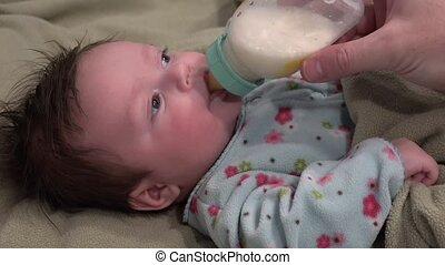 Baby Excited About Milk - Baby get excited for milk and gets...