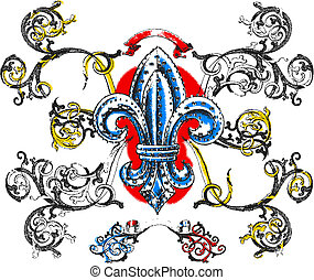 scroll ornate and royal symbol