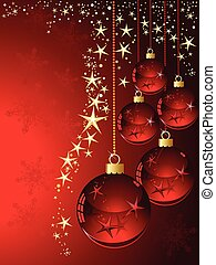 Christmas  with red ball