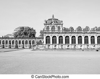 Dresden Zwinger - Dresdner Zwinger rococo palace designed by...