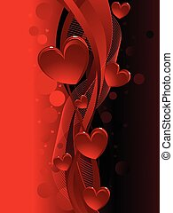 Black and red valentine,s day