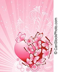 Valentines Day background. Vector illustration
